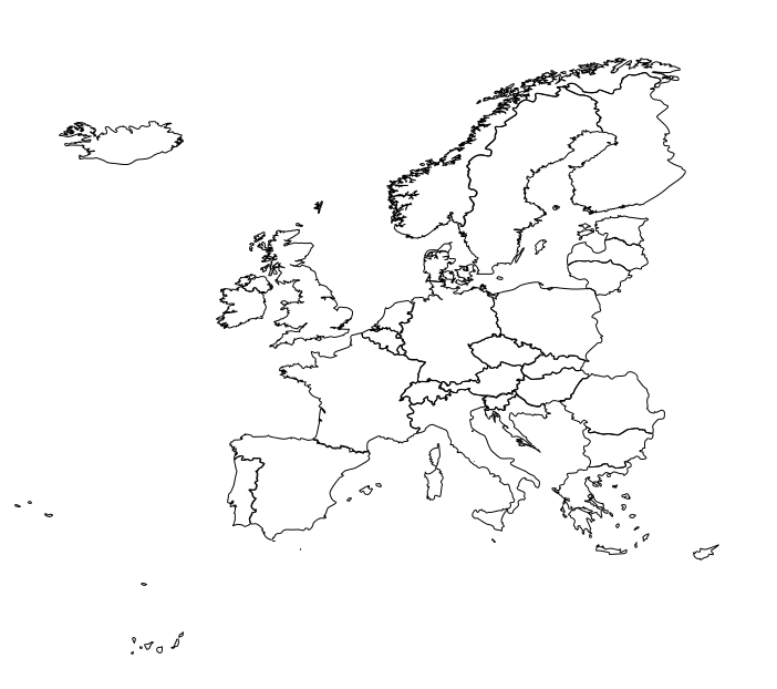 Polygon Map Europe
